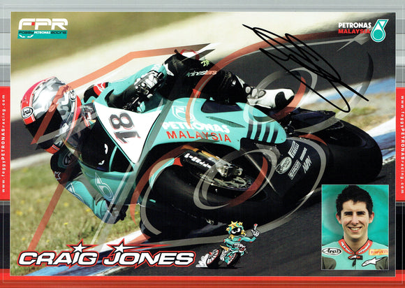Craig Jones - World Superbikes - 12 x 8 Autographed Print