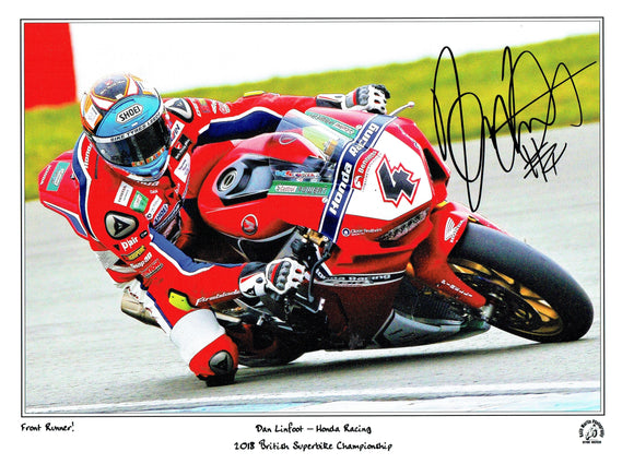 Dan Linfoot - British Superbikes - 16 x 12 Autographed Print