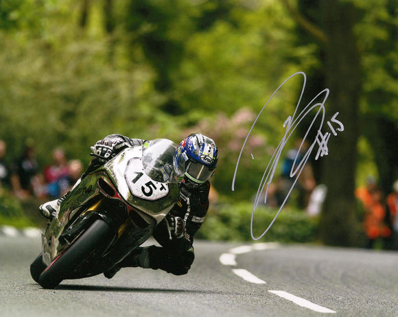 Davo Johnson - Glen Helen - TT 2016 - 16 x 12 Autographed Picture