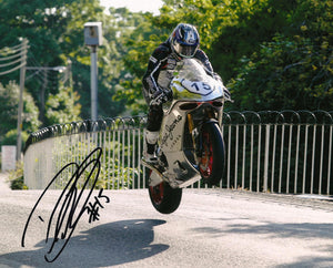 Davo Johnson - Ballaugh Bridge - TT 2016 - 16 x 12 Autographed Picture