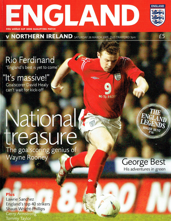 England v Northern Ireland - 2005 World Cup Qualification Programme