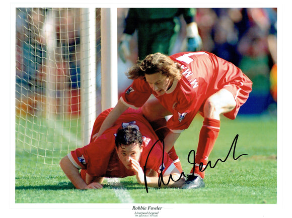 Robbie Fowler - Liverpool - 16 x 12 Autographed Picture
