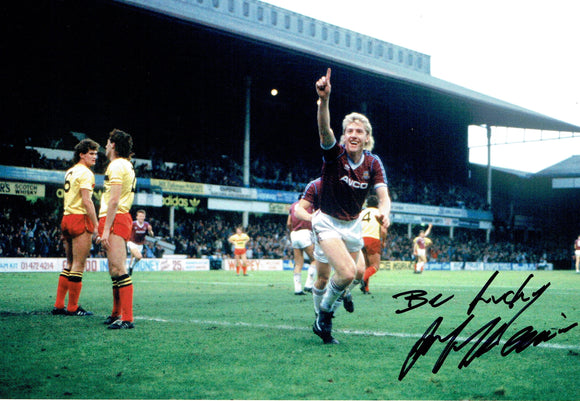 Frank McAvennie - West Ham United F.C. - 12 x 8 Autographed Picture