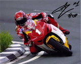 Gary Johnson - Signpost Corner - TT 2009 - 16 x 12 Autographed Picture