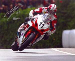 Gary Johnson - Union Mills - TT 2010 - 16 x 12 Autographed Picture