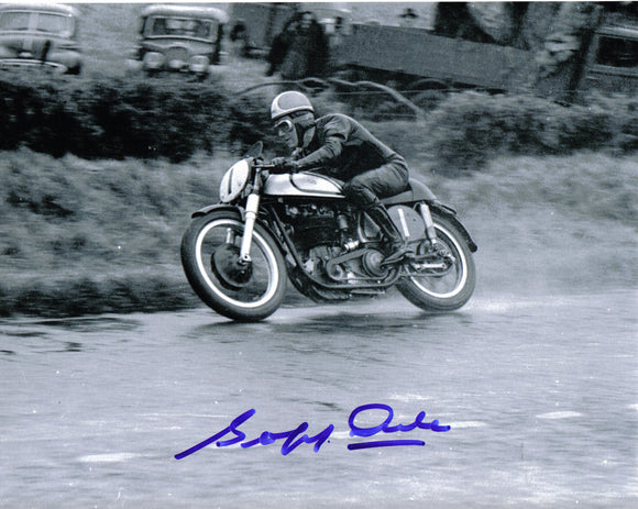 Geoff Duke - Ulster Grand Prix - 10 x 8 Autographed Picture