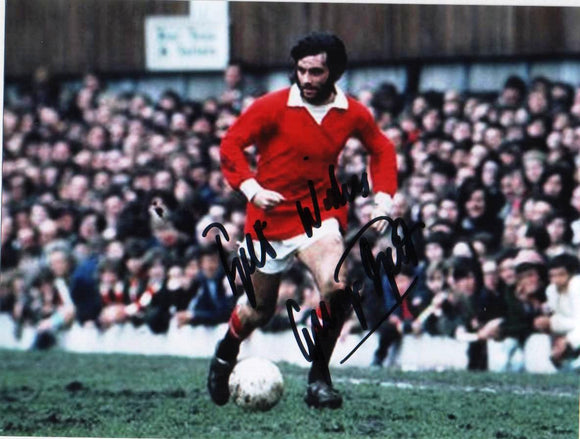 George Best - Manchester United - 8 x 6 Autographed Picture