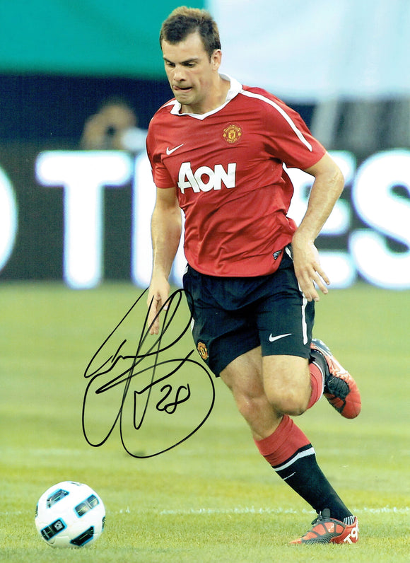 Darron Gibson - Manchester United - 12 x 8 Autographed Picture