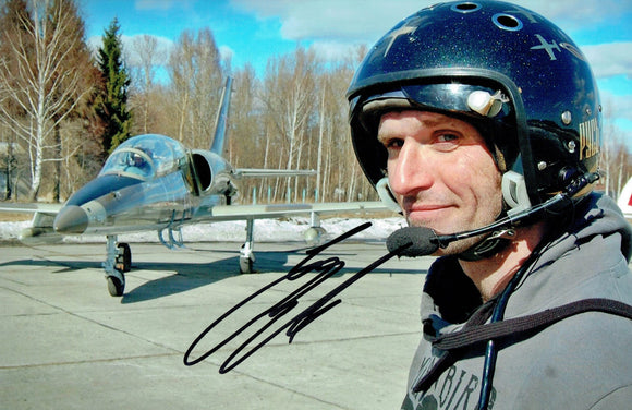 Guy Martin - Fighter Jet - 12 x 8 Autographed Picture