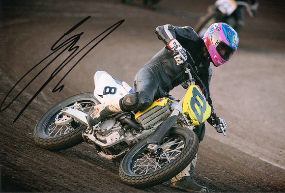 Guy Martin - Dirt Track - 12 x 8 Autographed Picture