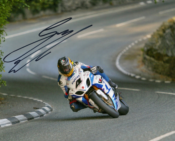 Guy Martin - Greeba Castle - TT 2013 - 10 x 8 Autographed Picture