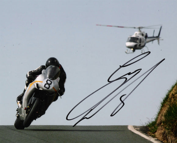 Guy Martin - Kates Cottage - TT 2010 - 16 x 12 Autographed Picture