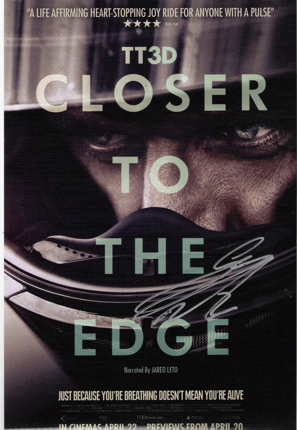 Guy Martin - Closer to the edge portrait promo - TT 2011 - 12 x 8 Autographed Picture