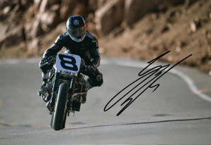 Guy Martin - Pikes Peak 2 - 2014 - 10 x 8 Autographed Picture