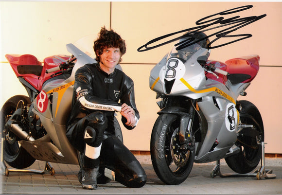 Guy Martin - Wilson Craig Promo - TT 2010 - 12 x 8 Autographed Picture
