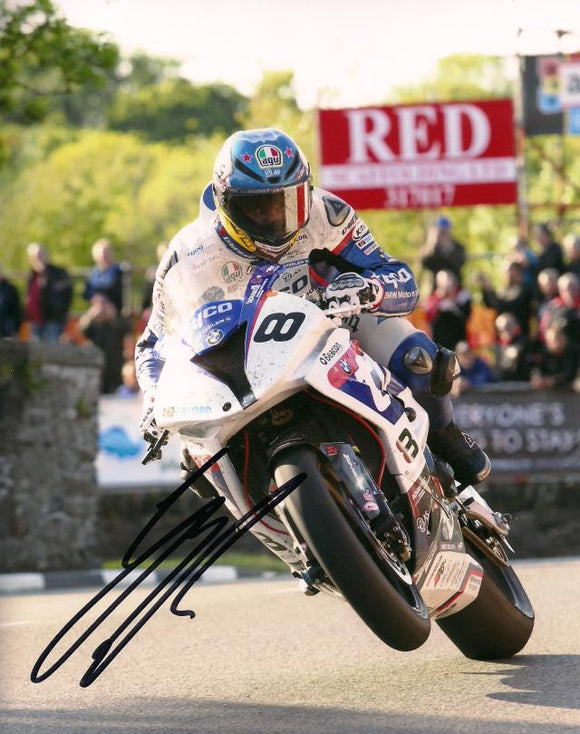Guy Martin - Sulby Bridge - TT 2015 - 16 x 12 Autographed Picture