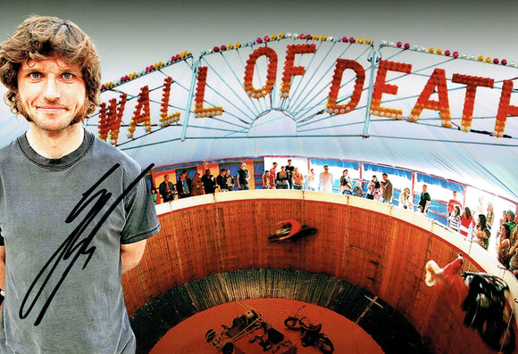 Guy Martin - Wall of Death 1 - 12 x 8 Autographed Picture