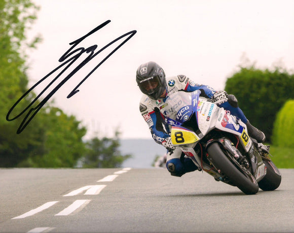 Guy Martin - Signpost Corner - TT 2015 - 16 x 12 Autographed Picture