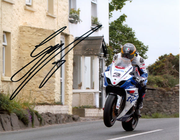 Guy Martin - Rhencullen - TT 2012 - 10  8 Autographed Picture
