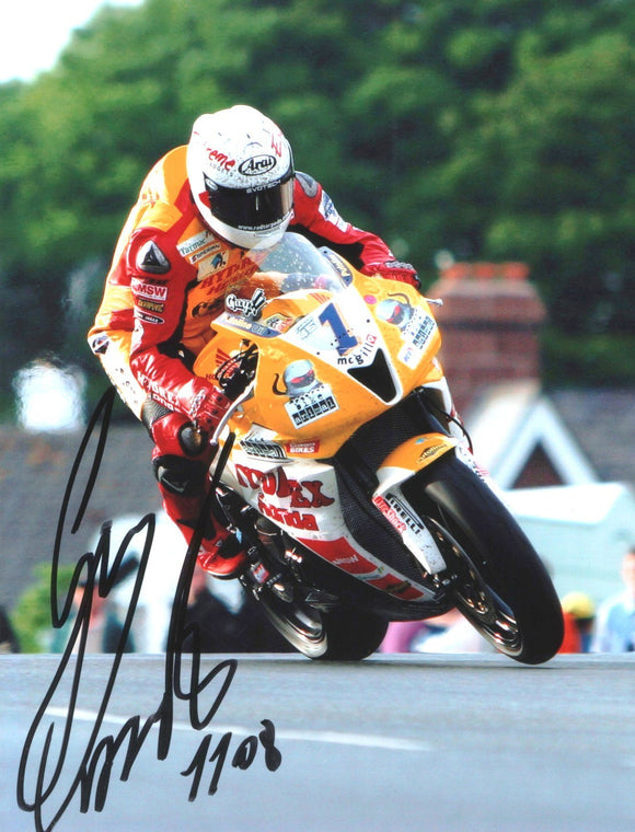 Guy Martin - Sulby Bridge - TT 2008 - 10 x 8 Autographed Picture