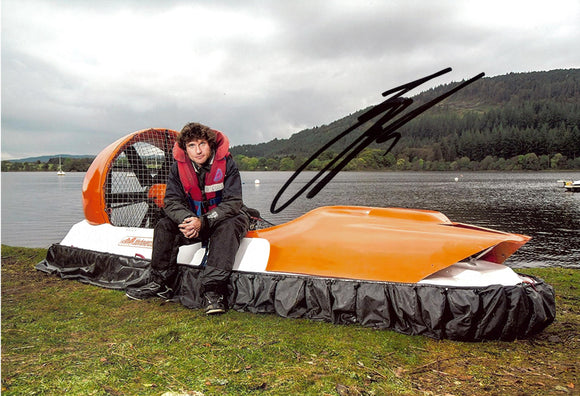 Guy Martin - Hovercraft - Speed - 12 x 8 Autographed Picture