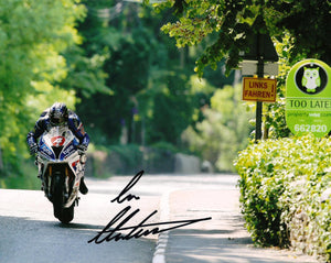 Ian Hutchinson - Milltown - TT 2016 - 10 x 8 Autographed Picture