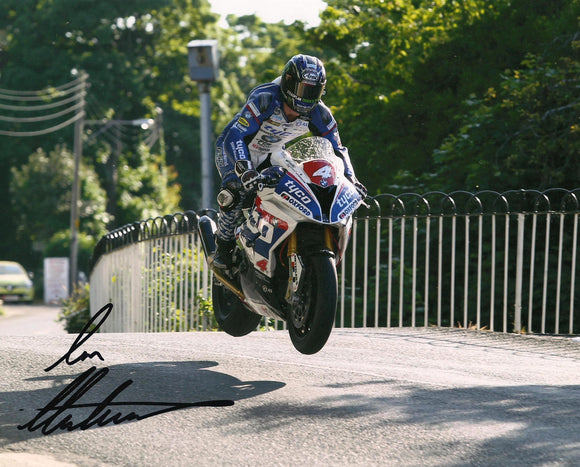Ian Hutchinson - Ballaugh Bridge - TT 2016 - 16 x 12 Autographed Picture