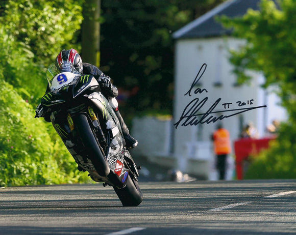 Ian Hutchinson - Bishops Court - TT 2015 - 10 x 8 Autographed Picture