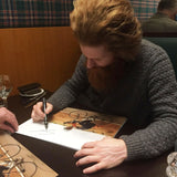 Sean Conway - Round Britian Cycle - 16 x 12 Autographed Picture