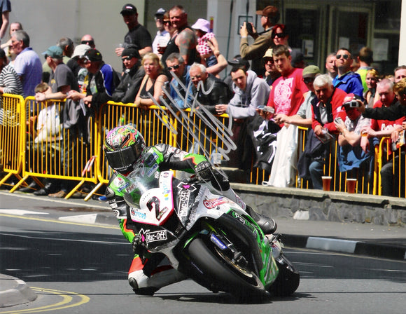 James Hillier - Parliament Square - TT 2014 - 16 x 12 Autographed Picture