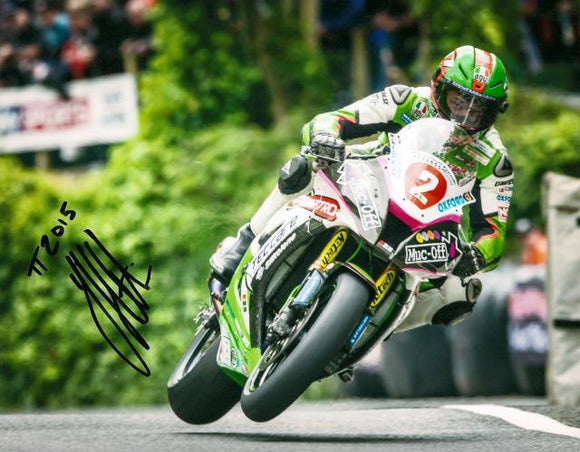 James Hillier - Union Mills - TT 2015 - 10 x 8 Autographed Picture