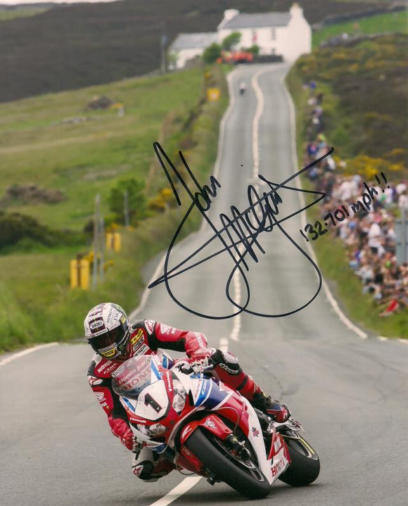 John McGuinness - Creg Ny Baa - TT 2015 - 12 x 8 Autographed Picture