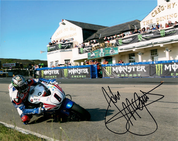John McGuinness - Creg Ny Baa - TT 2011 - 10 x 8 Autographed Picture