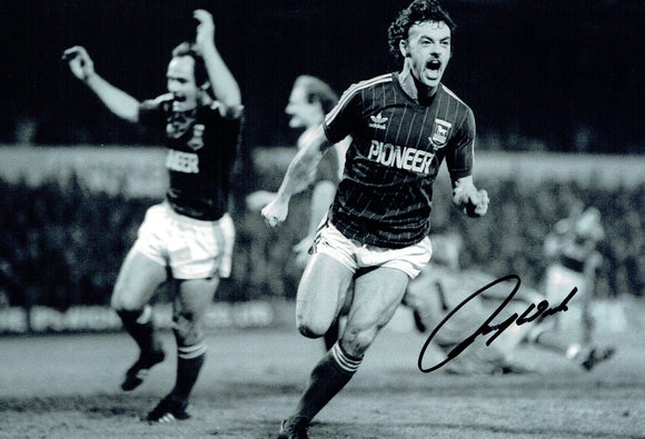 John Wark - Ipswich Town F.C. - 1981 EUFA Cup Winner - 12 x 8 Autographed Picture
