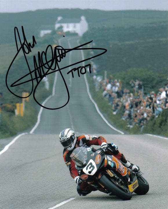 John McGuinness - Creg Ny Baa - TT 2007 - 16 x 12 Autographed Picture