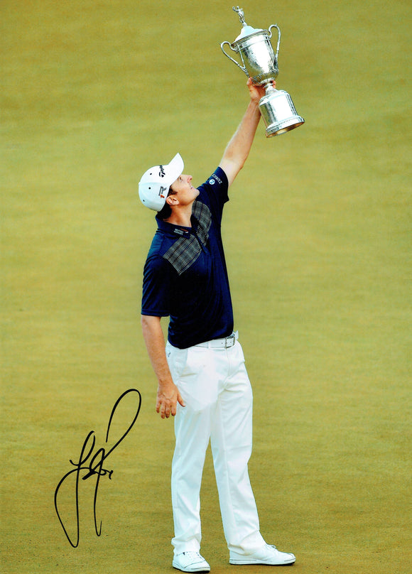 Justin Rose - US Open Winner - 16 x 12 Autographed Picture
