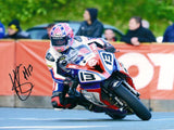Lee Johnston - Quarter Bridge - TT 2015 - 10 x 8 Autographed Picture
