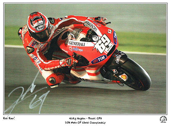 Nicky Hayden - Moto GP - 2006 Moto GP World Champion - 16 x 12 Mounted Autographed Picture