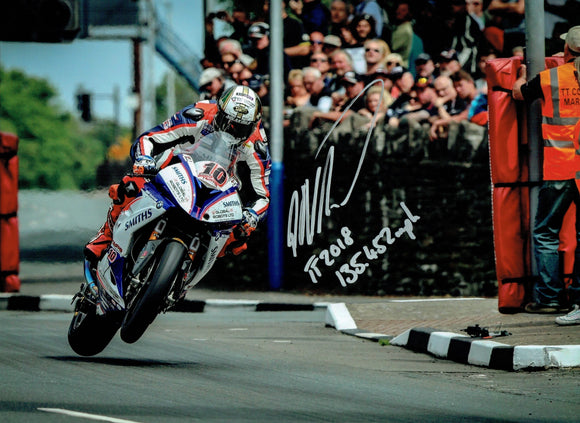 Peter Hickman - St Nininans - TT 2018 - 16 x 12 Autographed Picture