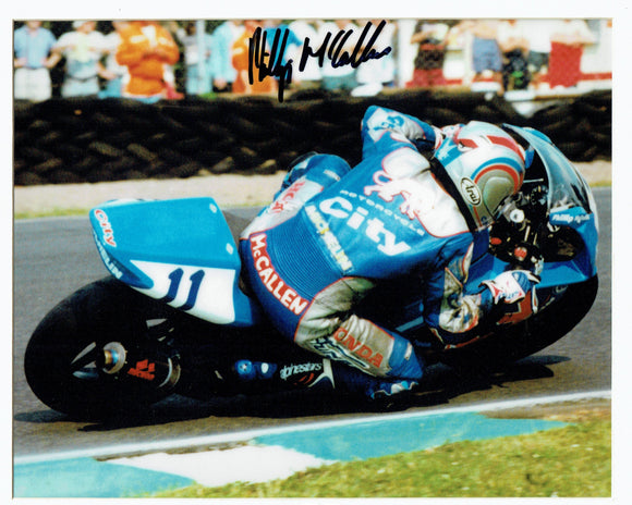 Philip McCallen -Sulby Bridge - TT 1996 - 16 x 12 Autographed Picture & mount