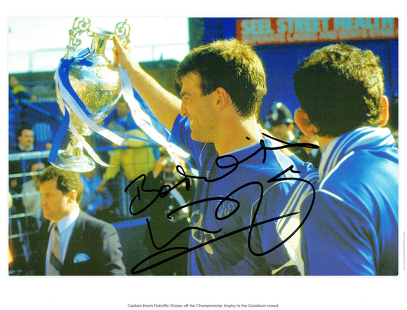 Kevin Ratcliffe - Everton F.C. - League Champion - 16 x 12 Autographed Picture