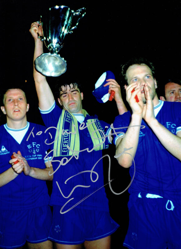 Kevin Ratcliffe - Everton F.C. - European Cup Winners Cup - 16 x 12 Autographed Picture