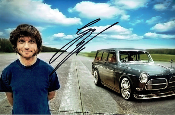 Guy Martin - Volvo Amazon - 12 x 8 Autographed Picture