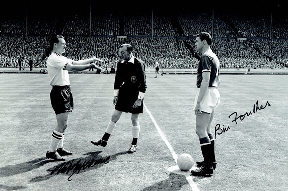 Natt Lofthouse & Bill Foulkes - Manchester United / Bolton - 15 x 12 Autographed Picture