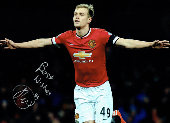 James Wilson - Manchester United - 16 x 12 Autographed Picture