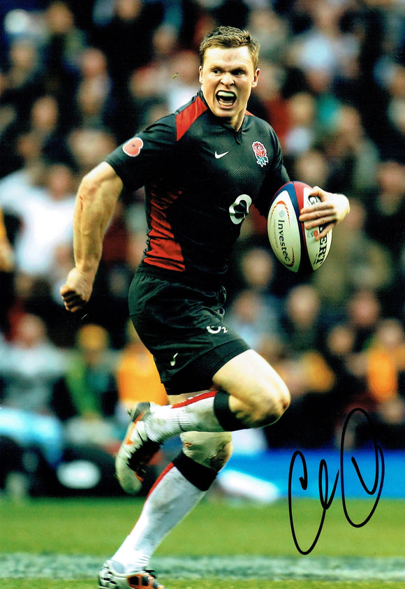 Chris Ashton - England - 10 x 8 Autographed Picture