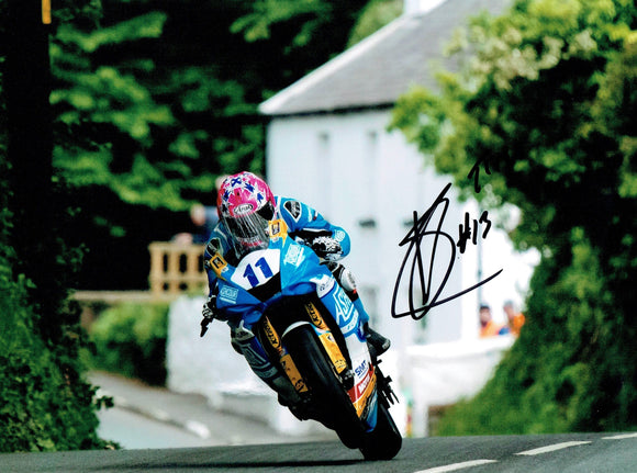 Lee Johnston - Bishops Court - TT 2019 - 16 x 12 Autographed Picture