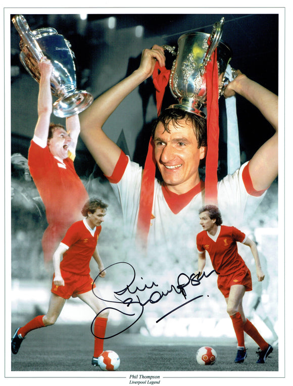 Phil Thompson - Liverpool - 16 x 12 Autographed Picture