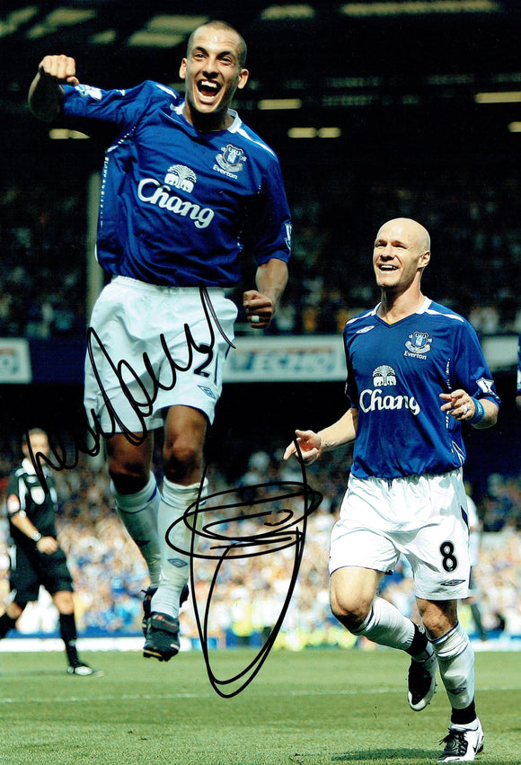 Leon Osman & Andy Johnson - Everton F.C.  - 12 x 8 Autographed Picture