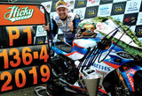 Peter Hickman - 2019 Ulster Grand Prix - 18 x 12 Autographed Picture